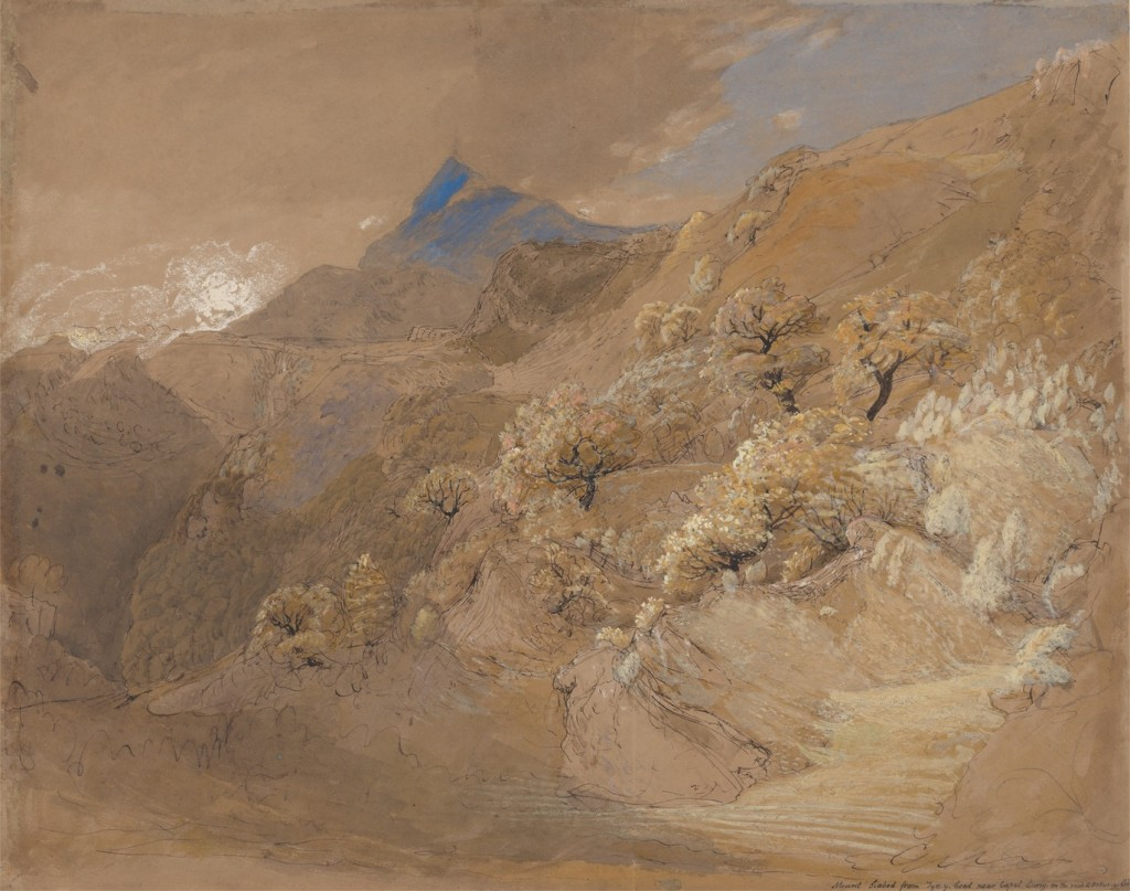 Samuel Palmer : Mount Siabod from Tyn-y-Coed near Capel Curig (circa 1835)
